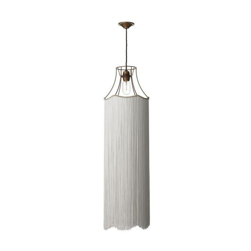 Maine  Pendant Bronze + Extended Ivory Fringe, MAI8663L (7-10 day Delivery) (Double Insulated)
